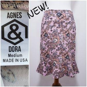 #398🆕️AGNES & DORA floral flounce skirt *Med 8-10